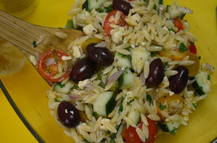 Greek Orzo Salad (Small Batch)