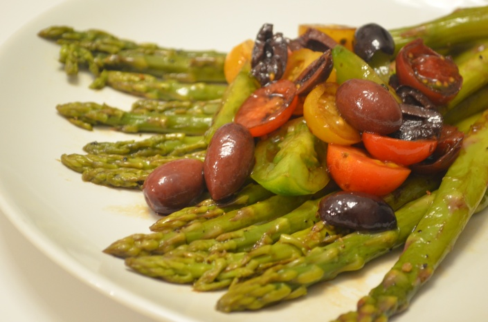 Cherry Tomato and Grilled Asparagus Salad