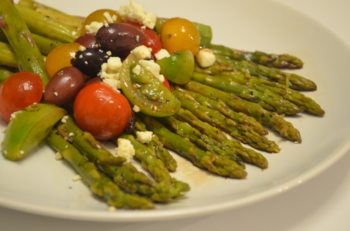 Greek Style Grilled Asparagus Salad