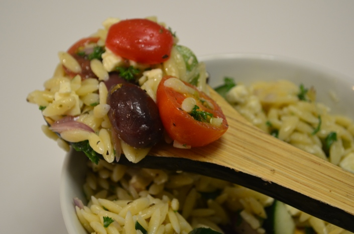 Small Batch Greek Orzo Salad