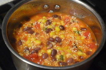 Simmer until Quinoa is cooked