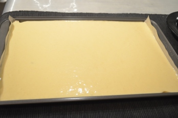 Pour in baking tray
