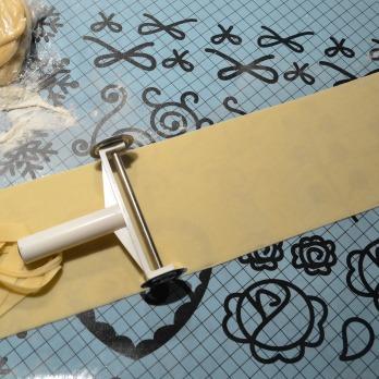 Cut and trim dough