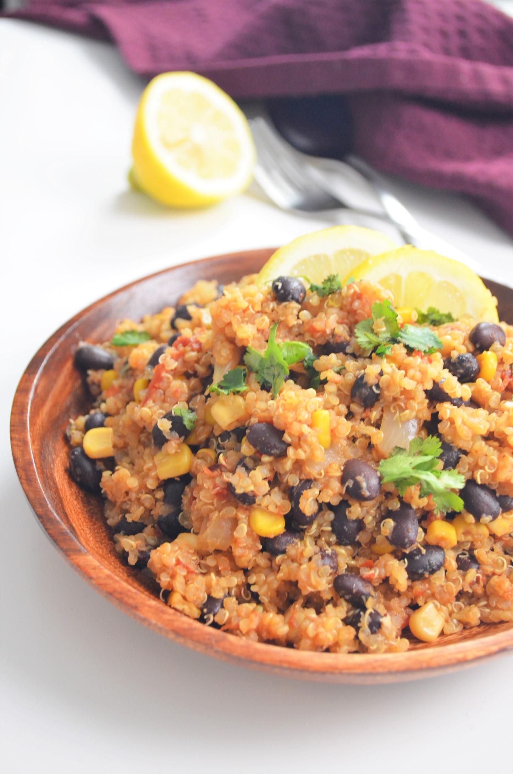 One Pan Mexican Quinoa Salad