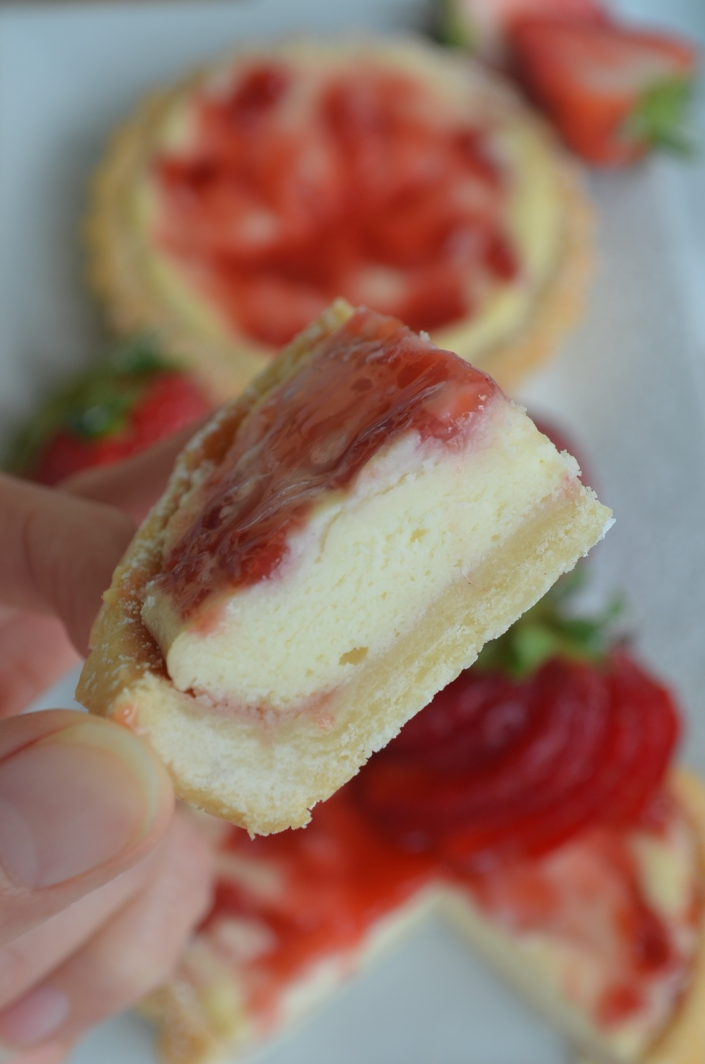 Small Batch Shortbread Strawberry Cream Cheese Tart By SweetNSpicyLiving