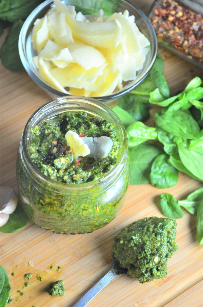 Spinach Pesto Recipe at SweetNSpicyLiving.com
