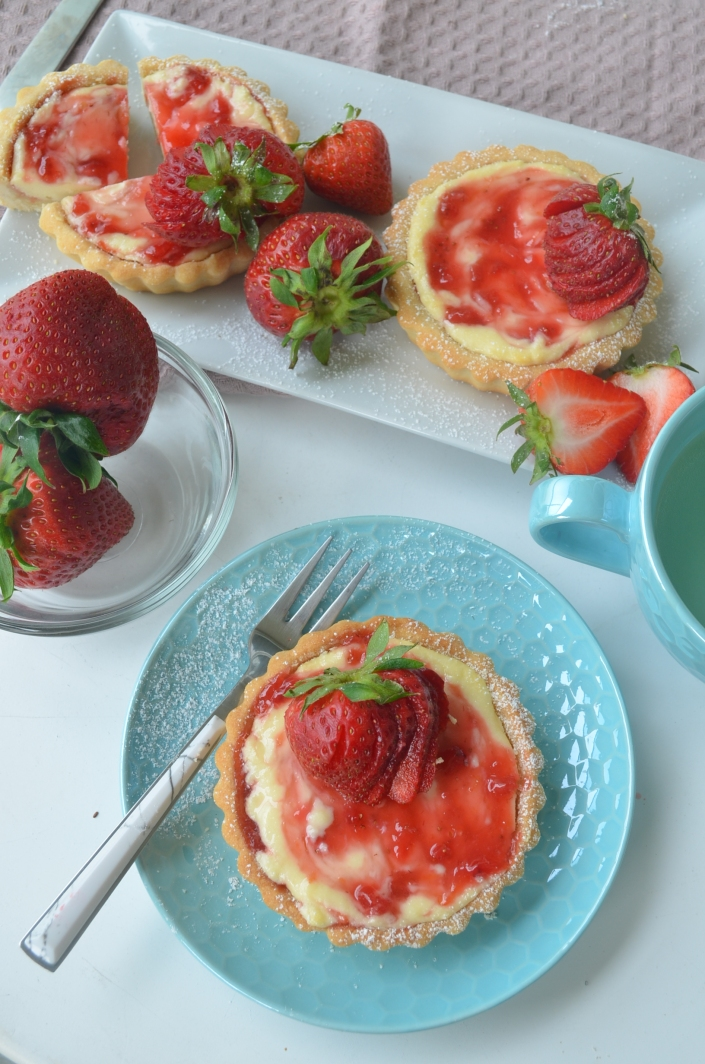 Strawberry Cream Cheese Tart By SweetNSpicyLiving