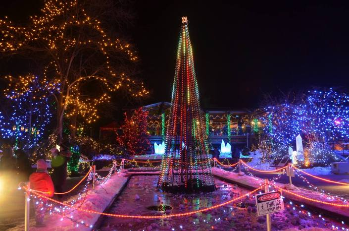 Festival of Lights at Vandusen Garden, vancouver BC