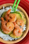 30 minutes Garlic Butter Shrimp with Zucchini at SweetnSpicyLiving.com