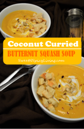Coconut Curried Butternut Squash Soup