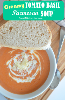 Creamy Tomato Basil Parmesan Soup