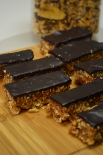 Homemade Dates and Nuts Granola Chocolate Bar