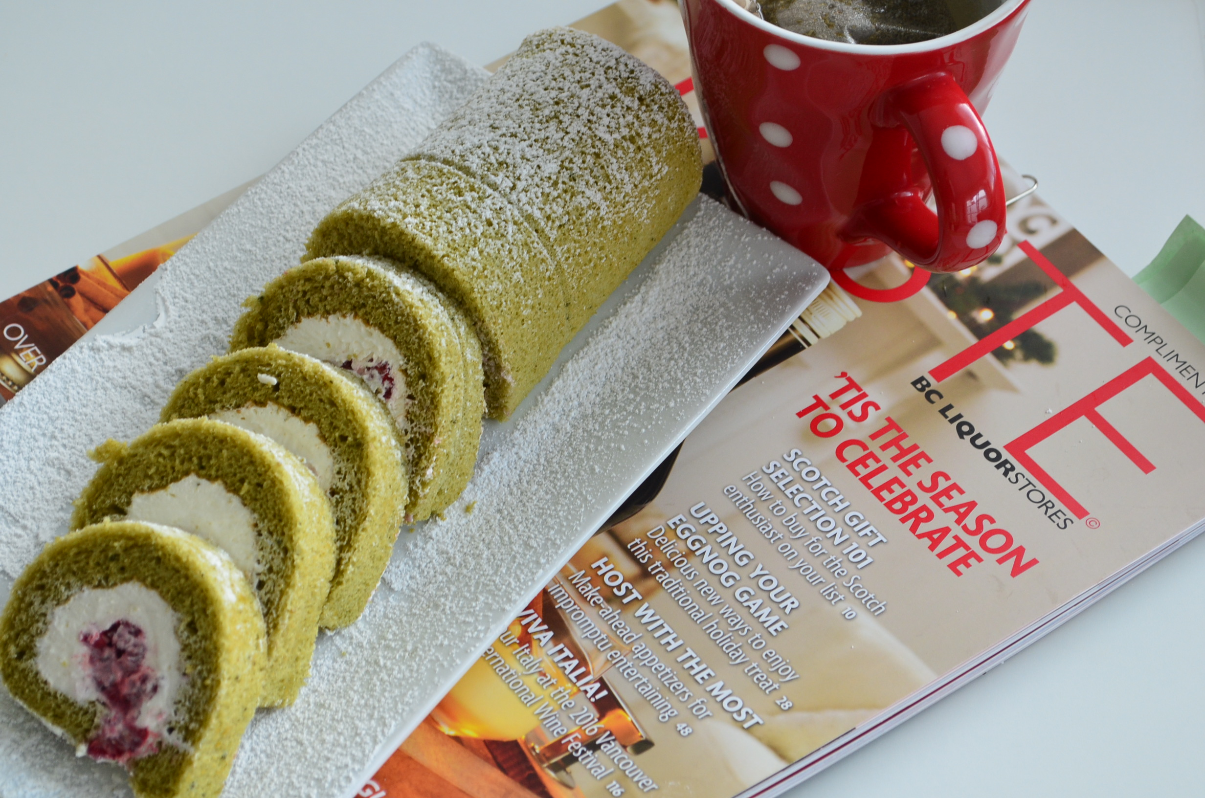 Matcha Swiss Roll Cake