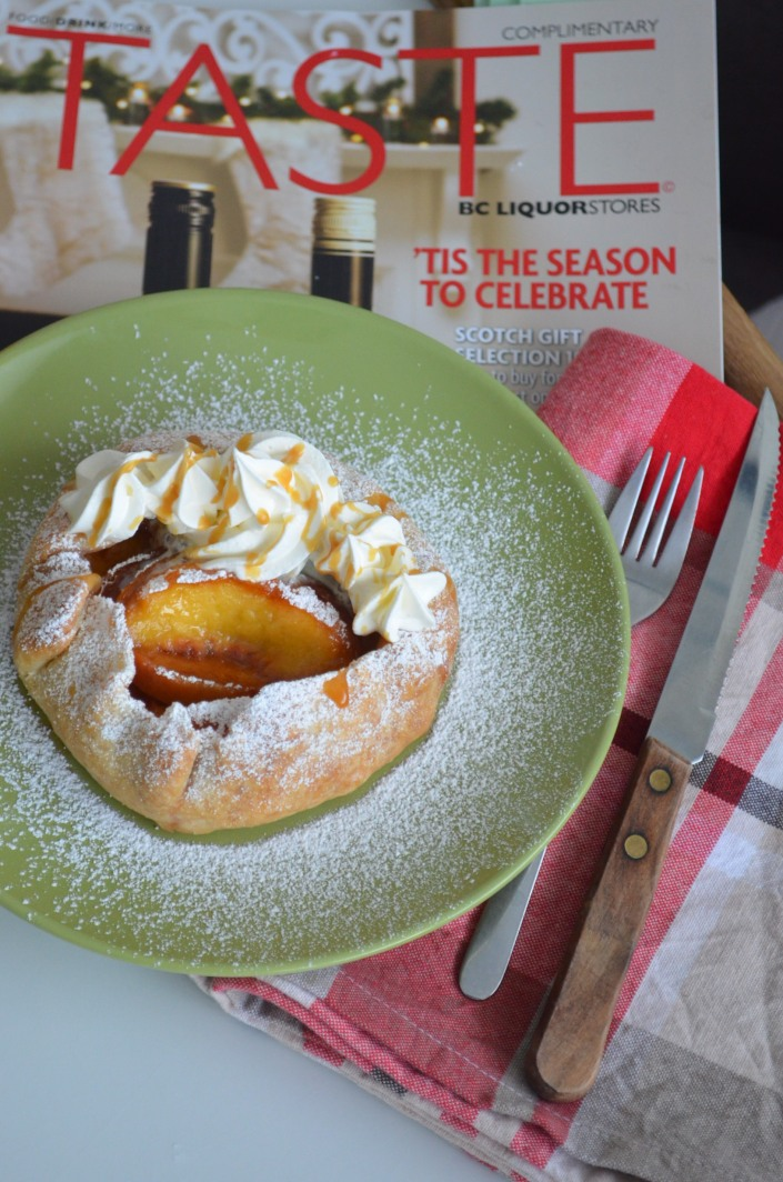 Peaches and Cream Rustic Tart