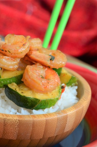 Garlic Butter Shrimp with Zucchini by SweetNSPicyLiving.com