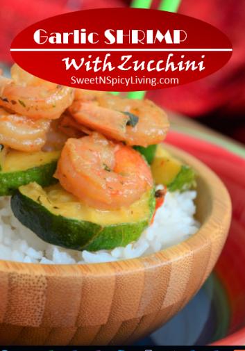 Garlic Shrimp with Zucchini