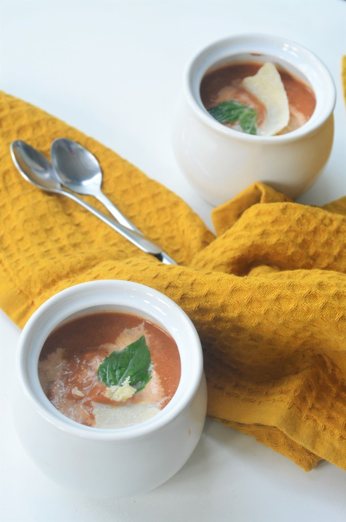 Small Batch Creamy Tomato Basil Soup For Two