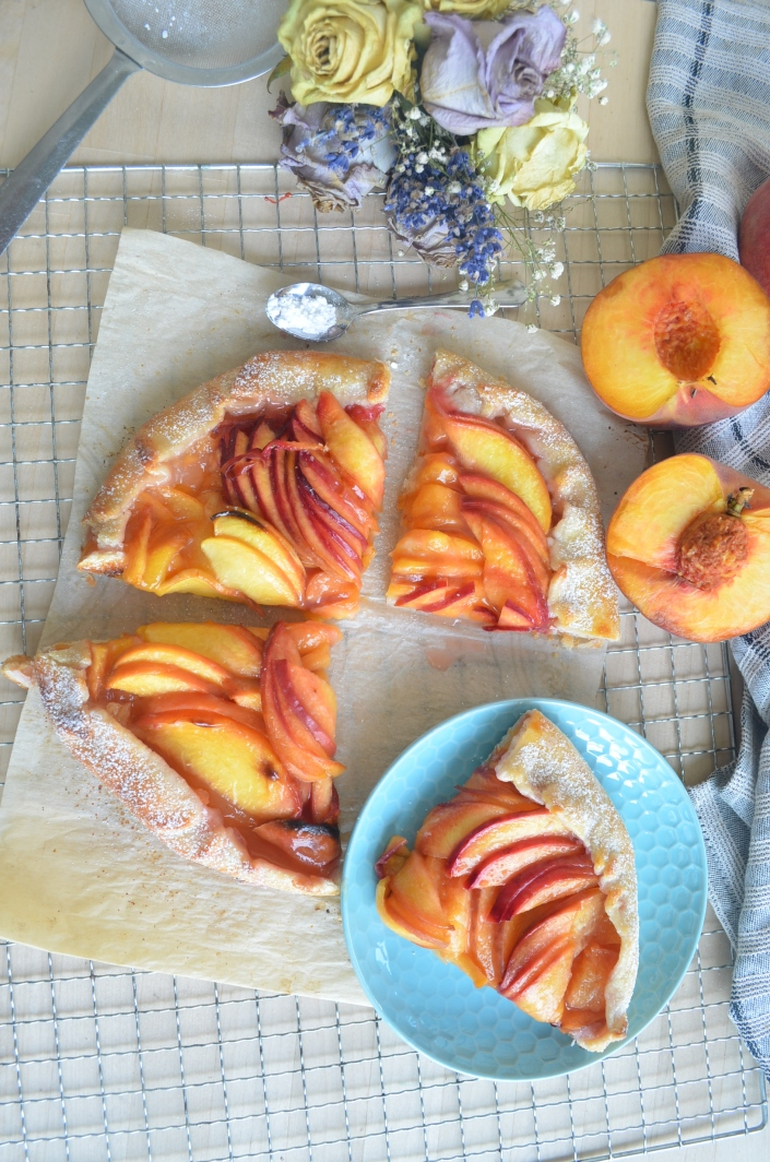 Small Batch Peach Galette By SweetNSpicyLiving