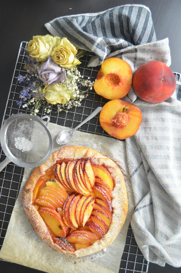 Small Batch Peach Galette Pie