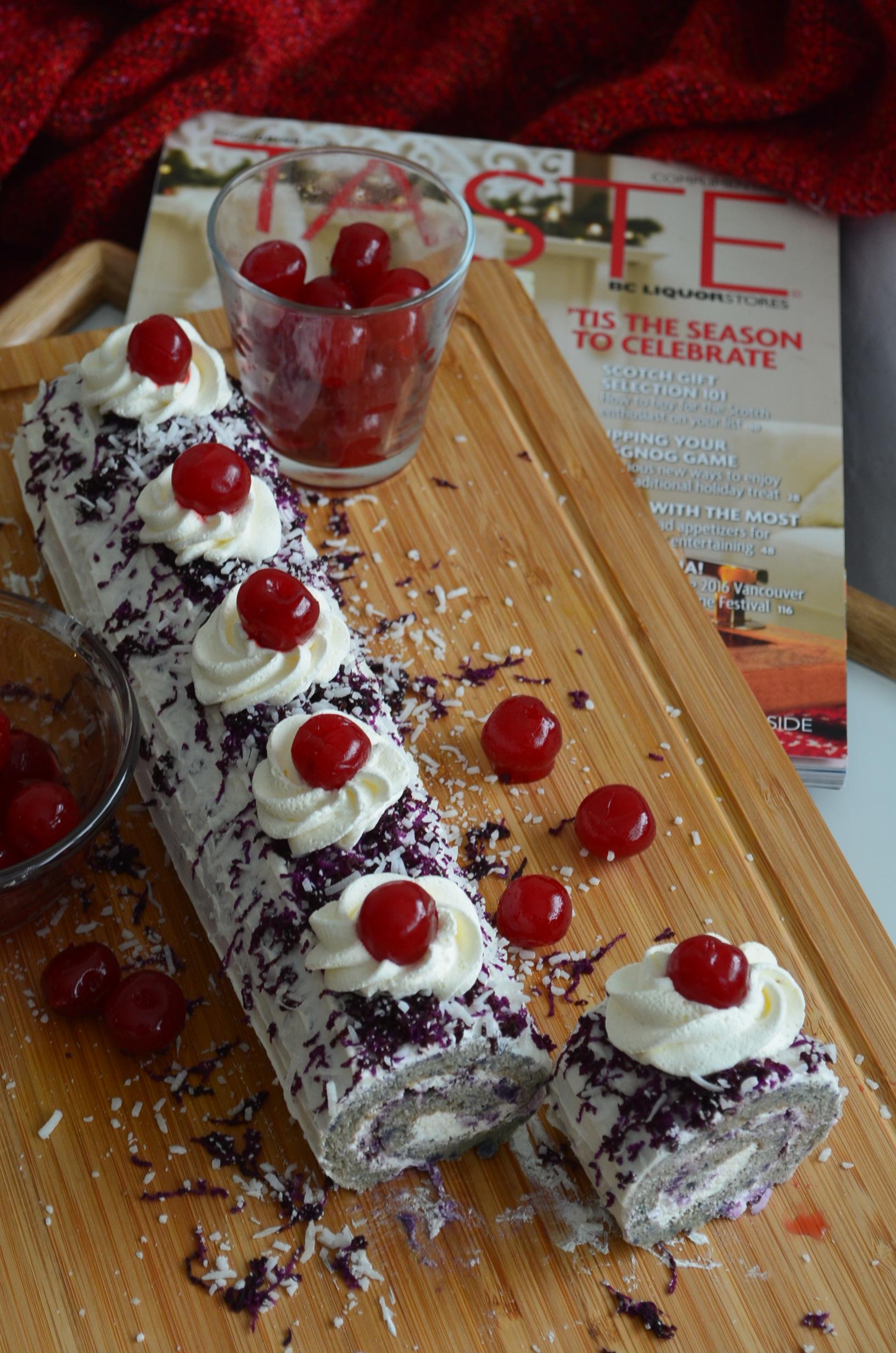 Ube Swiss Roll Cake By SweetNSpicyLiving