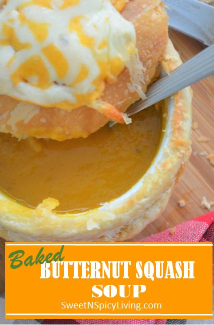 Baked Buternut Squash Soup