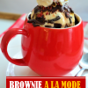Brownie A La Mode in aMug