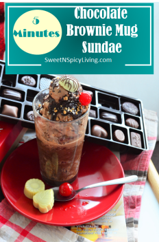 Chocolate Brownie Mug Sundae