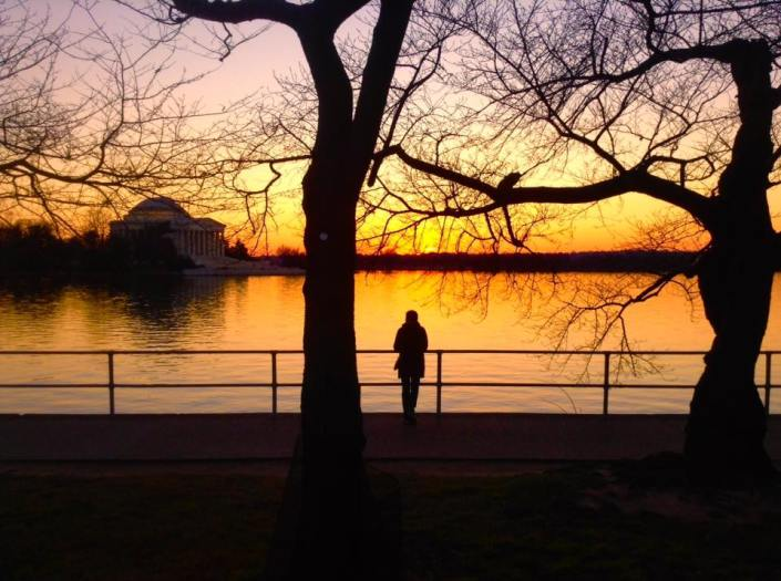 Sunset at Washington Memorial Park