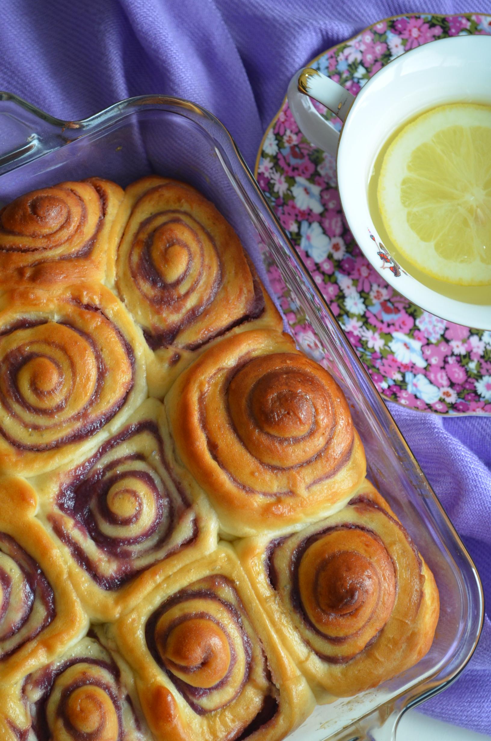 Ube (Purple Yam) Roll Bread