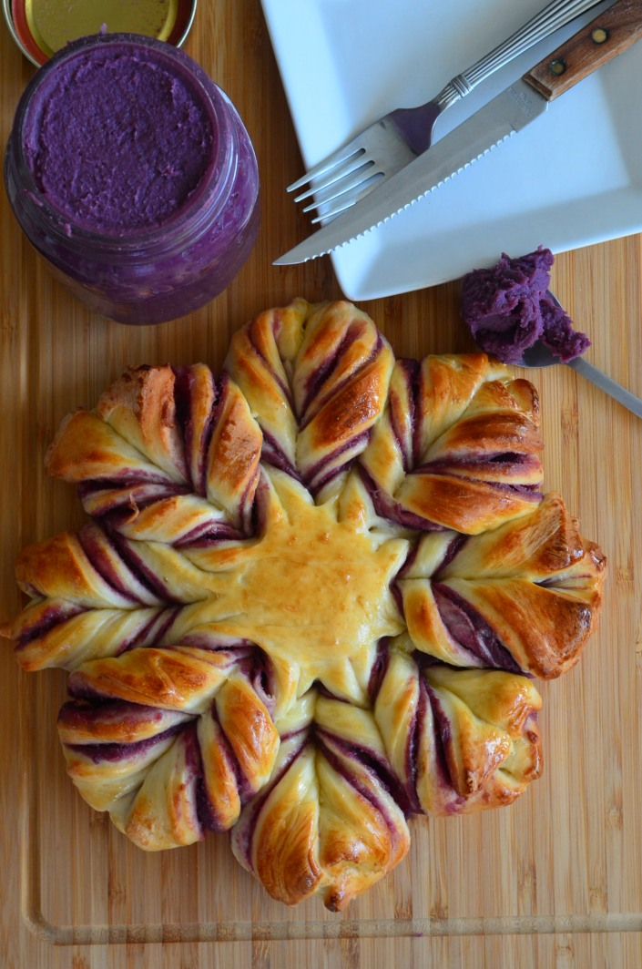 Purple Yam Pullapart Bread