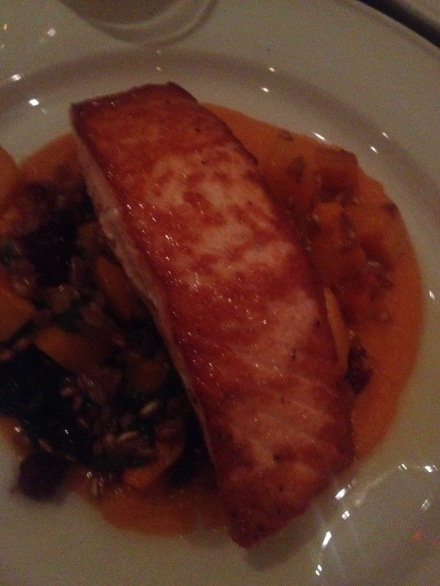Clydes : Salmon in Spinach and Squah