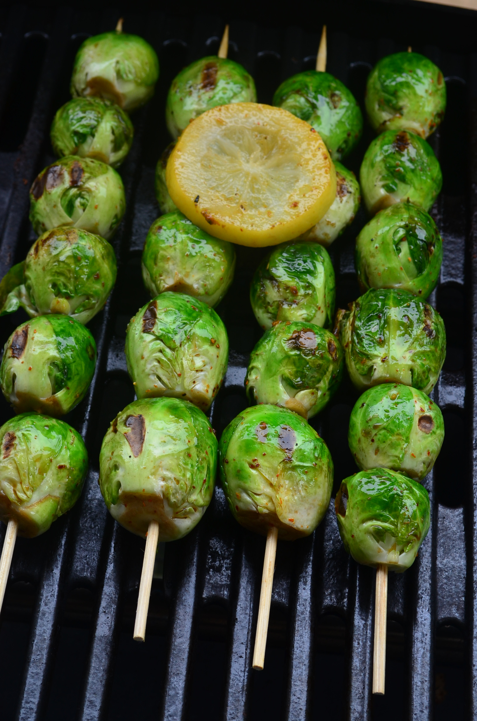 Grilled Brussel Sprouts Skewers