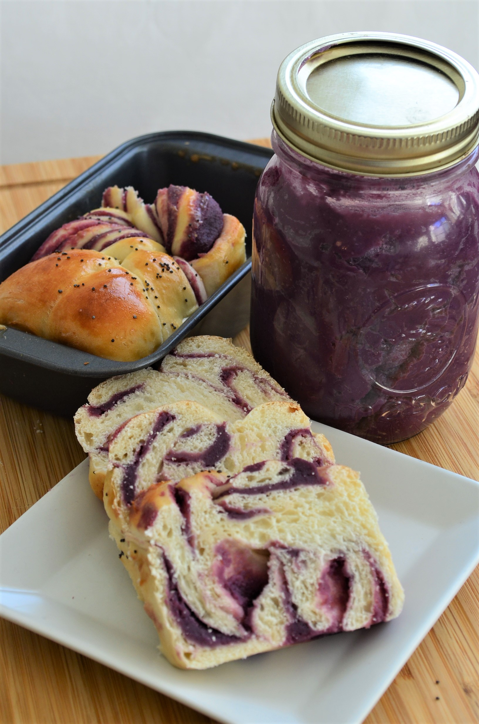 Filipino Ube Twist Bread