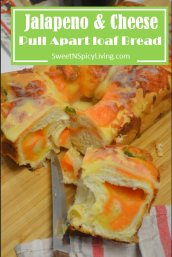 Jalapeno and Cheese Pull Apart Loaf Bread