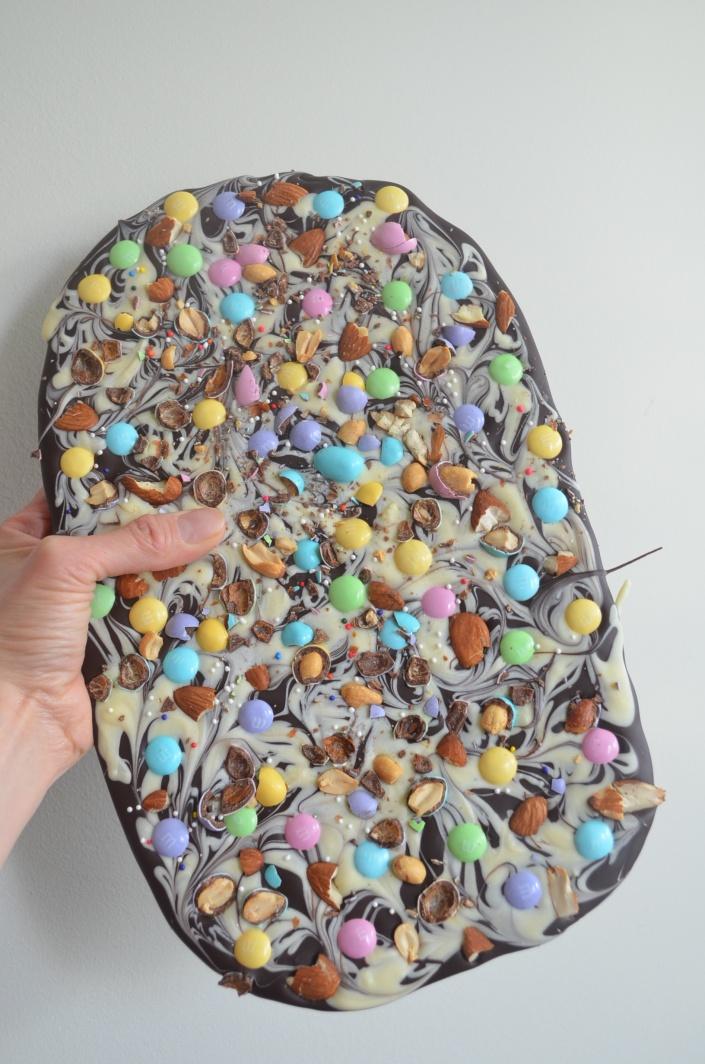 Easter M&M Bark Chocolates