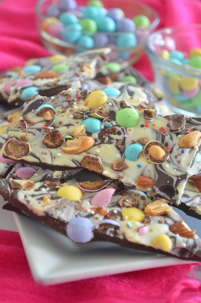 Easter Candy Bark Chocolates