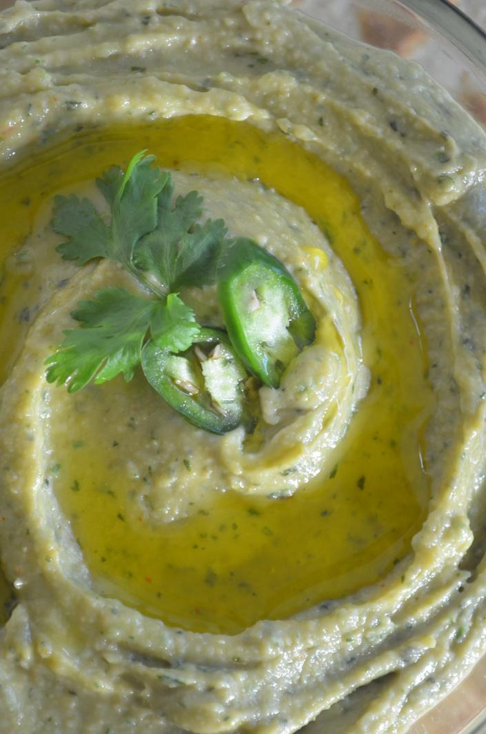 Jalapeño Cilantro Hummus