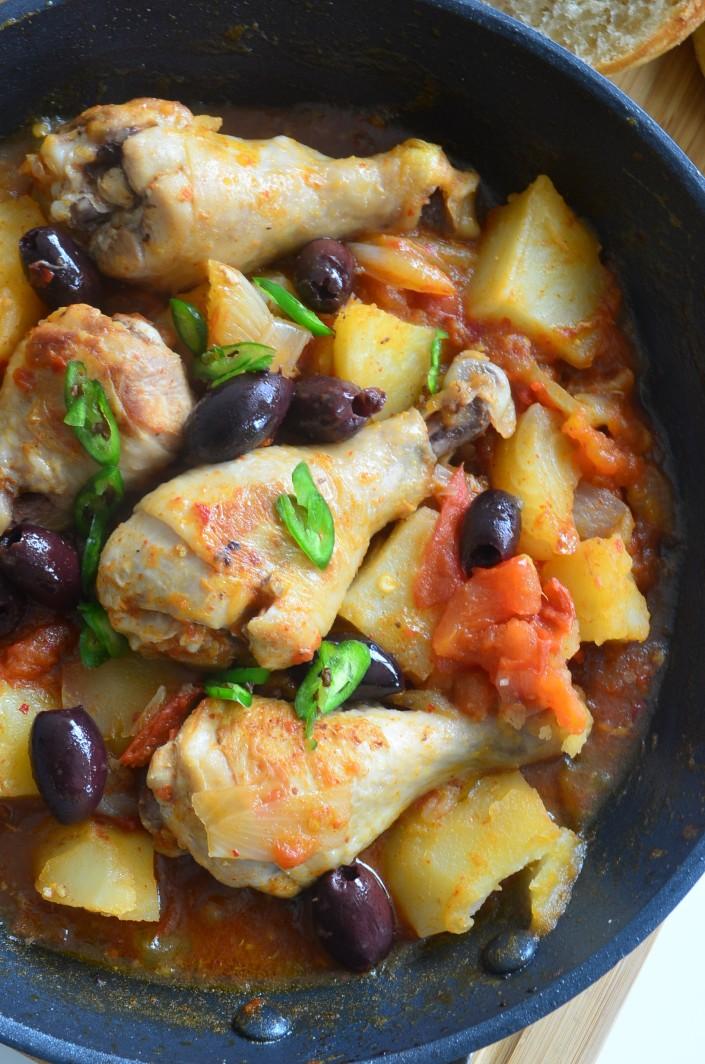 Chicken Tomatillo with Kalamata Olive