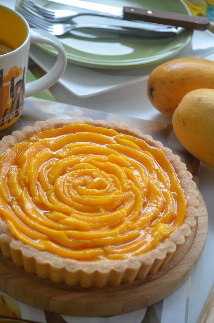 Mango Custard Tart Recipe
