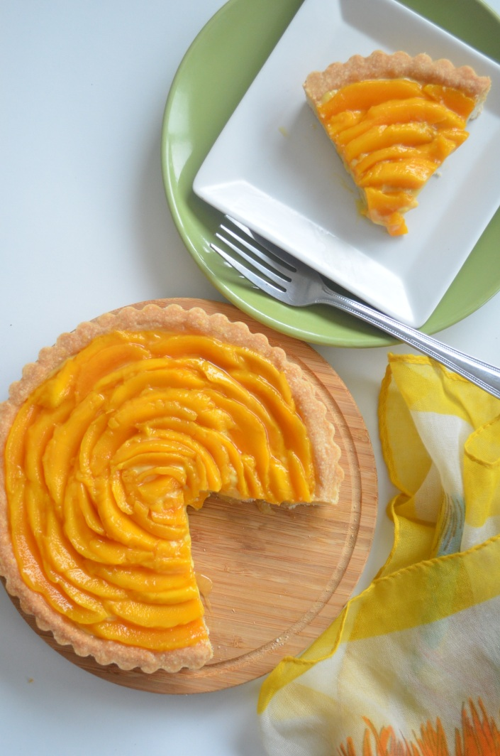 Mango Shortbread Custard Tart (Small Batch)