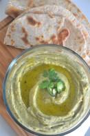Jalapeno Cilantro Hummus Recipe By SweetNSpicyLiving.com