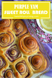 Purple Yam Sweet Roll Bread