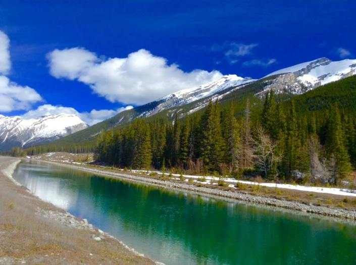 Exploring nature in Canmore, Alberta Canada