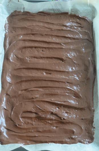Spread in baking sheet