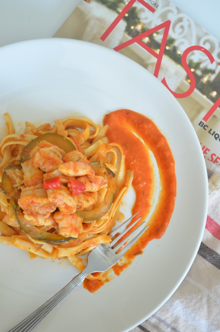 Shrimp Ratatouille Pasta