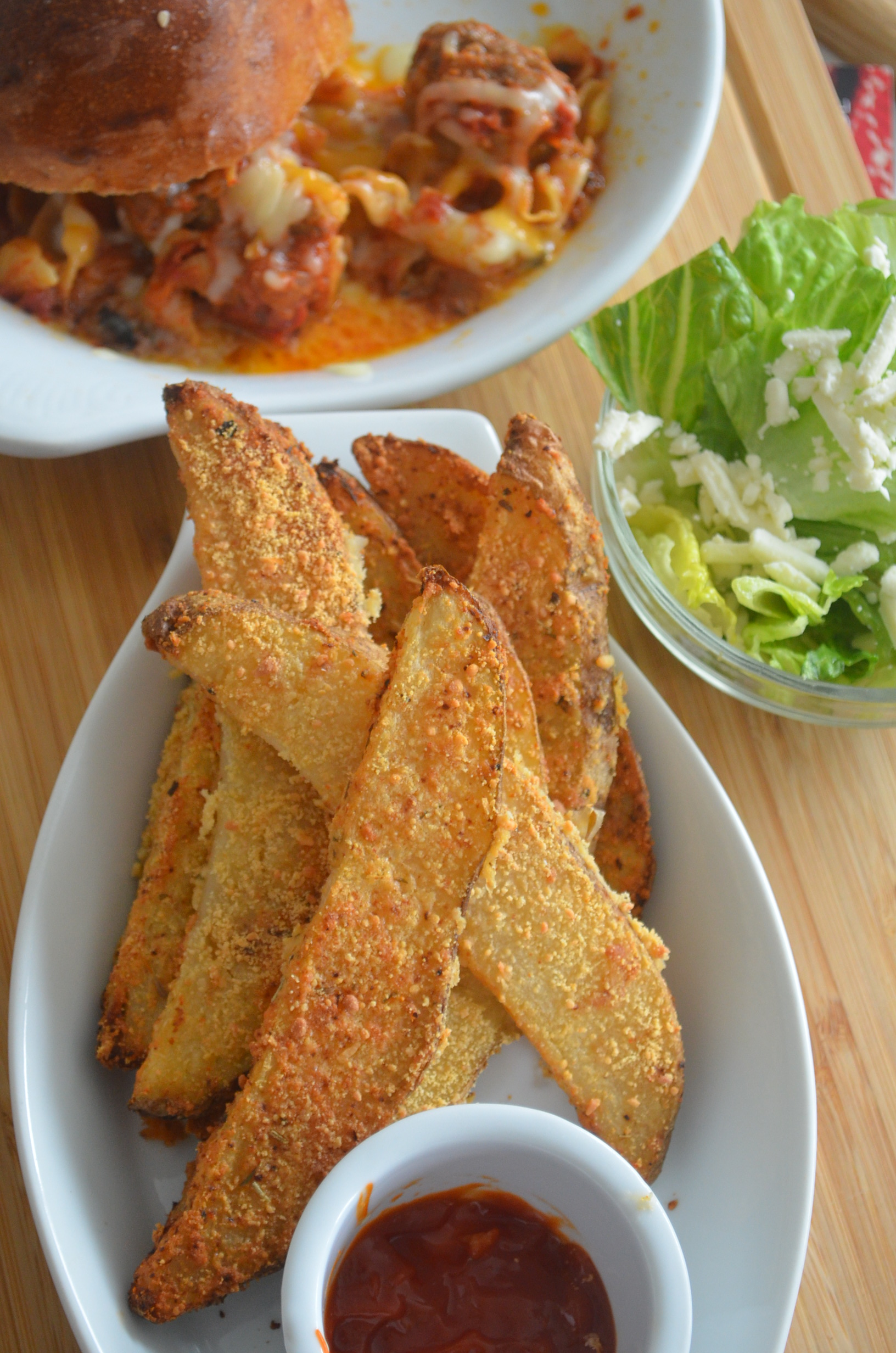 Baked Garlic Parmesan Potato Wedges (Small Batch)