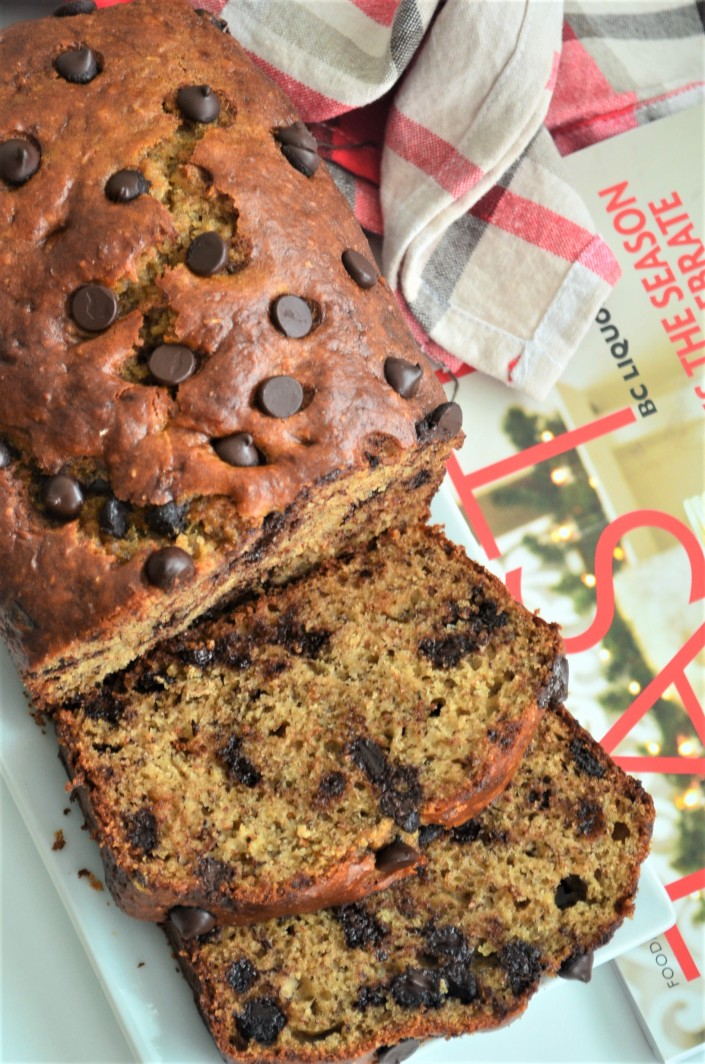 Chocolate Chip Banana Bread By SweetNSpicyLiving.com