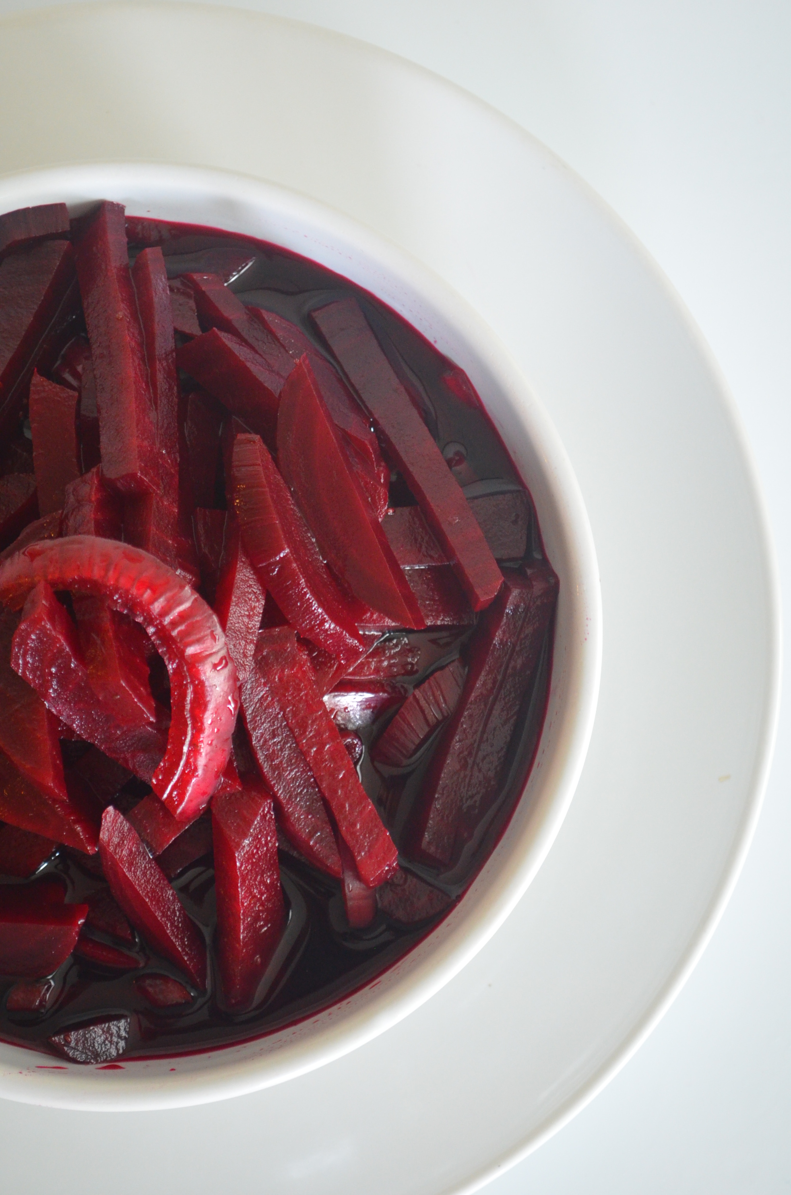 Pickled Beets and Onion. Check it out at https://www.sweetnspicyliving.com