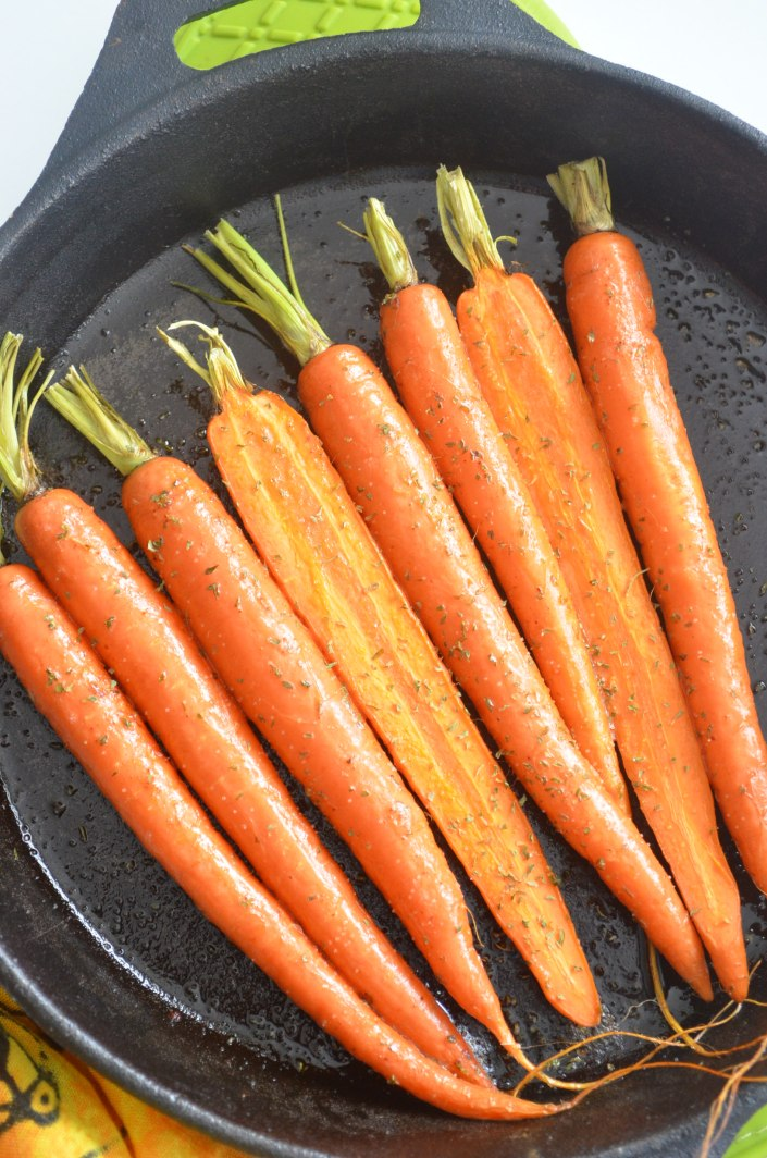 Roasted Buttered Baby Carrots