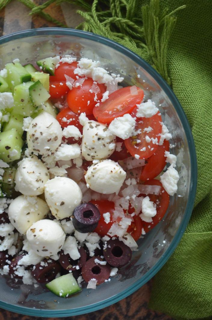 Boccaccini Greek Pasta Salad